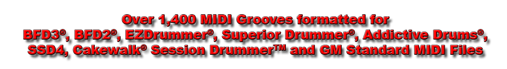 Multi-Format: Toontrack Superior Drummer, EZDrummer, XLN Audio Addictove Drums, FXpansion BFD, Slate Drums