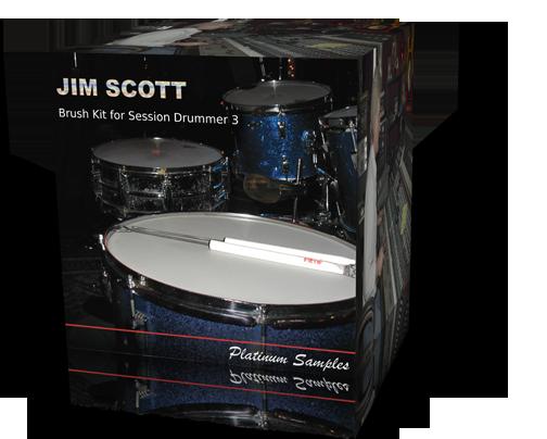 Platinum Samples - Jim Scott Brush Kit for Session Drummer 3